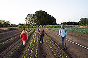 Lane Selman with Adrianna and Jolene of Flying Onion Farm