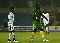 Photo: Tony Oudot.<br /> Ghana v Senegal. International Friendly. 21/08/2007.<br /> Bayal Sall of Senegal with Anthony Annan of Ghana