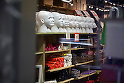 wholesale store with white display heads in New York City Midtown