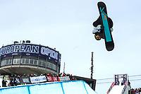 Skiskyting , ,LAAX,SCHWEIZ,16.JAN.14 - SNOWBOARD - World Snowboard Tour, Burton European Open, Halfpipe, Herren. Bild zeigt Morten Kleivdal (NOR). <br /> <br /> Norway only