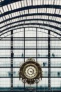 Frankrijk, Parijs, 1-6-2001De grote klok in het musee 'dOrsay, voormalig treinstation, nu museum.Foto: Flip Franssen/Hollandse Hoogte