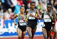 Friidrett , 7. juni 2012 , Diamond League Bislett Games , <br /> Hiwot Ayalew , Sofia Assefa  ,  3000 m s