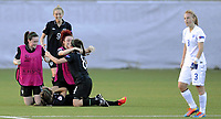 Fotball<br /> UEFA European Women's Under-19 Championships<br /> Group B<br /> Mjøndalen 18.07.2014<br /> Irland v England 2:1<br /> Foto: Morten Olsen, Digitalsport<br /> <br /> Post match celebration Ireland<br /> Amy O'Connor (8)<br /> Megan Connolly (9)