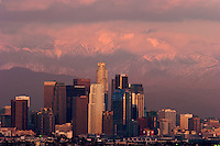 Winter Storm Sunset, Los Angeles, California