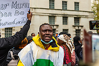 Nigerians protest outside downing st and parliament square due to the corruption and brutality of the Special Anti-Robbery Squad  that was disbanded on 11/10/20 and have called for the resignation of the president  over his handling of it.Photo by Mark Anton Smith