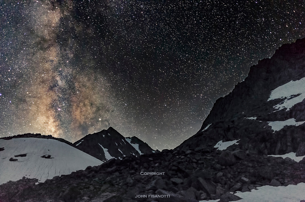 A summer night at 11,000 feet at Treasure Lake in the John Muir Wilderness of the Sierra Nevada