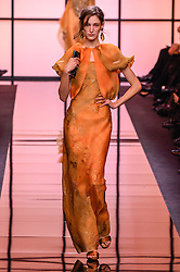 January 24, 2017 - Paris, FRANCE - Giorgio Armani.MODEL ON CATWALK, WOMAN, PARIS FASHION WEEK 2017 WOMEN READY TO WEAR FOR SPRING SUMMER, DEFILE, FASHION SHOW RUNWAY COLLECTION, HAUTE COUTURE, MODELWEAR, MODESCHAU LAUFSTEG FR√É≈ìHLING FRUEHLING SOMMER.PARHCSS17 (Credit Image: © PPS via ZUMA Wire)