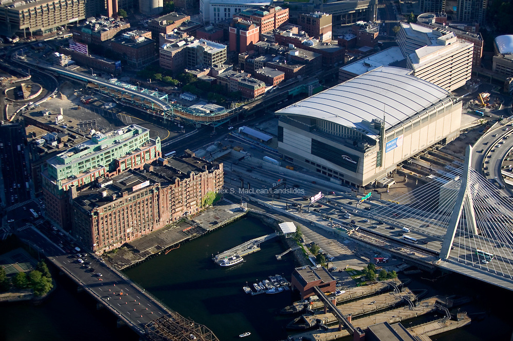 Boston - Fleet Center - Zakim Bridge