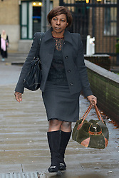 © Licensed to London News Pictures.17/01/2014. London, UK Barrister Constance Briscoe arrives at Southwark Crown Court. Constance Briscoe is accused of trying to pervert the course of justice in connection with the Chris Huhne case.Photo credit : Peter Kollanyi/LNP