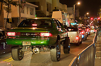 Caravan of Cars in the 2008 Miami Beach urban Weekend. The Miami Beach Urban weekend in the largest Urban Festival in the World, that caters toward the Hip Hop Generation. Over 300.000 participants make the annual trek to South Beach for 4 days full of fun, food, festivities, entertainment, music, and more.