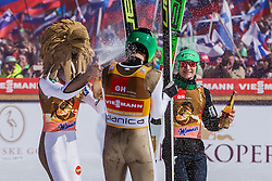 Robert Kranjec (SLO), Peter Prevc (SLO) and Anze Lanisek (SLO) during the Ski Flying Hill Individual Competition at Day 4 of FIS Ski Jumping World Cup Final 2016, on March 20, 2016 in Planica, Slovenia. Photo by Grega Valancic / Sportida