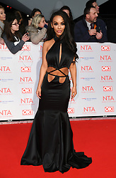 Chelsee Healey attending the National Television Awards 2018 held at the O2, London. Photo credit should read: Doug Peters/EMPICS Entertainment