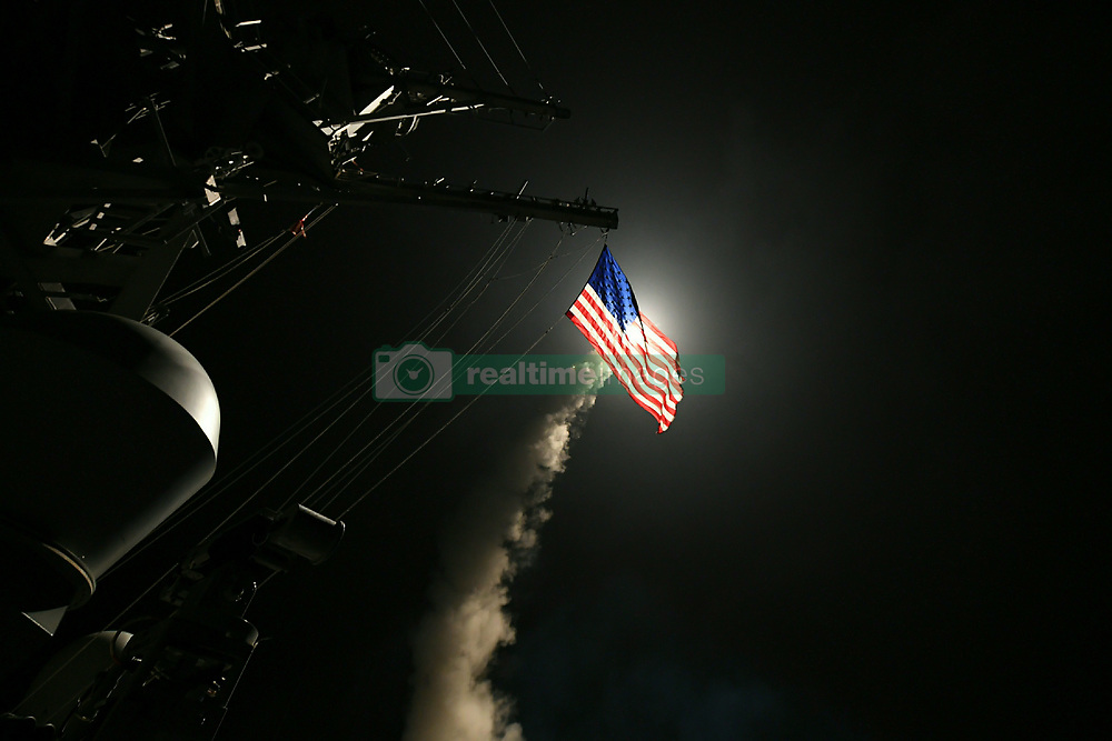 April 7, 2017 - United States - MEDITERRANEAN SEA (April 7, 2017) The guided-missile destroyer USS Porter (DDG 78) conducts strike operations while in the Mediterranean Sea, April 7, 2017. Porter, forward-deployed to Rota, Spain, is conducting naval operations in the U.S. 6th Fleet area of operations in support of U.S. national security interests in Europe. (U.S. Navy photo by Mass Communication Specialist 3rd Class Ford Williams/Released) U.S. Navy/Globallookpress.com (Credit Image: © Russian Look via ZUMA Wire)