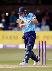 Yorkshire's Matt Fisher during the One Day Cup, Quarter Final at the Cloudfm County Ground, Essex. PRESS ASSOCIATION Photo. Picture date: Thursday June 14, 2018. See PA story CRICKET Essex. Photo credit should read: John Walton/PA Wire. RESTRICTIONS: Editorial use only. No commercial use without prior written consent of the ECB. Still image use only. No moving images to emulate broadcast. No removing or obscuring of sponsor logos.