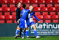 Kieran Phillips of Bristol Rovers celebrates scoring a goal to make it 2-1 - Mandatory by-line: Robbie Stephenson/JMP - 29/10/2019 - FOOTBALL - County Ground - Swindon, England - Swindon Town v Bristol Rovers - FA Youth Cup Round One