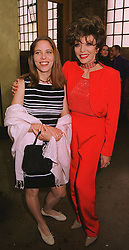 Left to right, MISS KATY KASS and her mother actress JOAN COLLINS, at a party in London on 29th April 1999.MRO 46