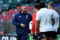 England Rugby forwards coach Matt Proudfoot looks on during the pre-match warm-up - Mandatory byline: Patrick Khachfe/JMP - 07966 386802 - 14/11/2020 - RUGBY UNION - Twickenham Stadium - London, England - England v Georgia - Autumn Nations Cup