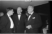 20/08/1962<br /> 08/20/1962<br /> 20 August 1962 <br /> Efficient Distribution Ltd. Dinner at Shelbourne Hotel, Dublin. Chatting during the reception were (l-r) T. Corboy, Director, Looney and Co., Limerick; Barry Cudmore, Director, Jamaica Banana Company, Cork and H.J. Richards, Managing Director, Messrs Edward Ryan and Co. Ltd., Cork.