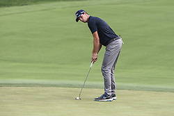 August 12, 2018 - Town And Country, Missouri, U.S - THOMAS PIETERS from Belgium gets ready to putt on the 18th green during round four of the 100th PGA Championship on Sunday, August 12, 2018, held at Bellerive Country Club in Town and Country, MO (Photo credit Richard Ulreich / ZUMA Press) (Credit Image: © Richard Ulreich via ZUMA Wire)
