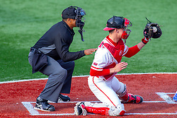 NORMAL, IL - May 01: Wayne Harris behind catcher Nick Zouras during a college baseball game between the ISU Redbirds and the Indiana State Sycamores on May 01 2019 at Duffy Bass Field in Normal, IL. (Photo by Alan Look)