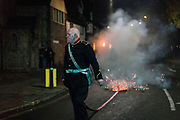 """Lewes Bonfire, describes a set of celebrations held in the town of Lewes, Sussex that constitute the United Kingdom's largest and most famous Bonfire Night festivities. Held on 5 November, the event not only marks Guy Fawkes Night - the date of the uncovering of the Gunpowder Plot in 1605 - but also commemorates the memory of the seventeen Protestant martyrs from the town burned at the stake for their faith during the Marian Persecutions. Lewes is home to the largest and most celebrated of the festivities in the Sussex bonfire tradition. There are seven societies putting on six separate parades and firework displays throughout Lewes on November the 5th. As well as this, 25-30 societies from all around Sussex come to Lewes on the fifth to march the streets. There is a history of religious antagonism and anti-popery around the bonfire celebrations in Lewes. A number of large effigies are drawn through the streets before being burned at the bonfires, these """"Enemies of Bonfire"""" range from nationally reviled figures to local officials."""