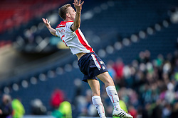 Falkirk's Will Vaulks cele at the end of the game. <br /> Hibernian 0 v 1 Falkirk, William Hill Scottish Cup semi-final, played 18/4/2015 at Hamden Park, Glasgow.