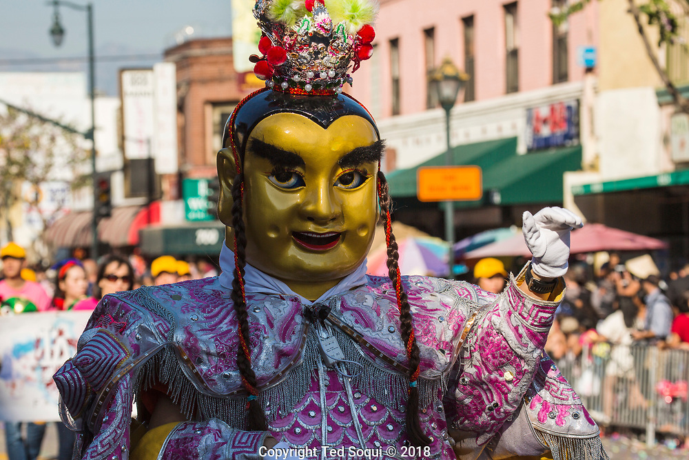 119th Annual Golden Dragon Parade celebrating the lunar new year held in Chinatown, Los Angeles.