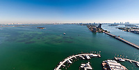 Panoramic View of Biscayne Bay and Miami Beach with Marina