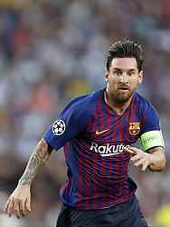 Lionel Messi of FC Barcelona during the UEFA Champions League group B match between FC Barcelona and PSV Eindhoven at the Camp Nou stadium on September 18, 2018 in Barcelona, Spain.