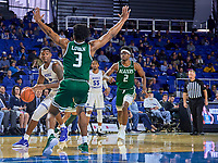 Middle Tennessee Blue Raiders forward Tyson Jackson (4) during the UAB Blazers at Middle Tennessee Blue Raiders college basketball game in Murfreesboro, Tennessee, Saturday, February, 15, 2020. Middle lost 79-66.<br /> Photo: Harrison McClary/All Tenn Sports