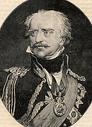 Gebhardt Lebrecht von Blucher (1742-1819) Prussian soldier. Created field marshal after success at the Battle of Leipzig (1813). Made a significant contributiont to Wellington's victory over the French under Napoleon at the Battle of Waterloo (1815).  Engraving.