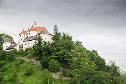 Castle near Ski jumping hill in Velenje on May 23, 2014 in Velenje, Slovenia. Photo By Vid Ponikvar / Sportida