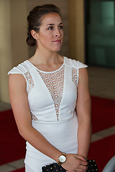 LIVERPOOL, ENGLAND - Tuesday, May 6, 2014: Liverpool Ladies' Amanda Da Costa on the red carpet for the Liverpool FC Players' Awards Dinner 2014 at the Liverpool Arena. (Pic by David Rawcliffe/Propaganda)