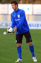 Bostjan Cesar (5) at practice of Slovenian men National team, on October 13, 2008, in Domzale, Slovenia.  (Photo by Vid Ponikvar / Sportal Images)
