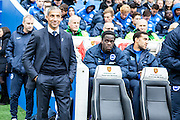 Brighton Manager Chris Hughton during the Sky Bet Championship match between Brighton and Hove Albion and Preston North End at the American Express Community Stadium, Brighton and Hove, England on 24 October 2015. Photo by Bennett Dean.