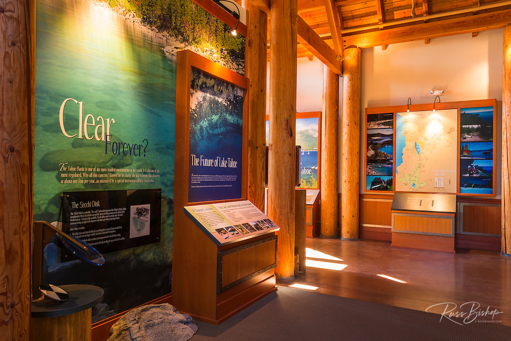 The visitor center at Sand Harbor State Park, Lake Tahoe, Nevada, USA