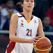 Galatasaray's Alba TORRENS during their Euroleague woman Group A basketball match Galatasaray between UMMC Ekaterinburg at the Abdi Ipekci in Istanbul at Turkey on wednesday,October, 26, 2010. Photo by TURKPIX