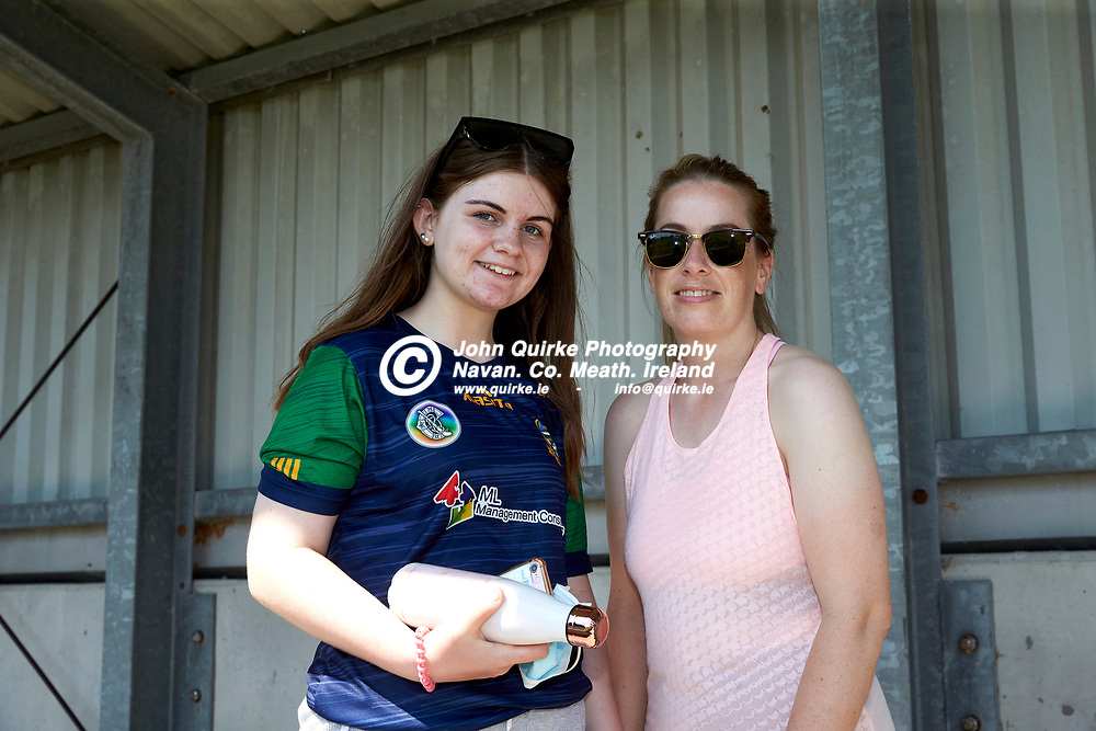 17-07-21, Joe McDonagh Cup Relegation play-off at Parnell Park.<br /> Meath v Kildare<br /> Pictured at the game, L-R, Louise & Evelyn Donoghue (Kiltale)<br /> Photo: David Mullen / www.quirke.ie ©John Quirke Photography, Proudstown Road Navan. Co. Meath. 046-9079044 / 087-2579454.<br /> ISO: 200; Shutter: 1/250; Aperture: 9;