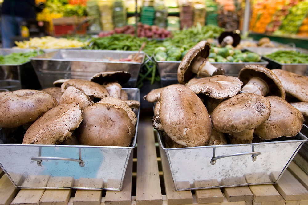 Produce artfully displayed at the Treasure Island store in the Hyde Park neighborhood on the south side of Chicago.