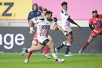 Essai - Zurabi Zhvania - 28.12.2014 - Stade Francais / Racing Club Toulon - 14eme journee de Top 14<br />Photo : Aurelien Meunier / Icon Sport