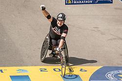 Matt Davis, Boston Marathon wheelchair finish