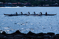 Rowing started in Hawaii in the 1860s.  King Kalakaua's birthday on November 16. 1875, marked Hawaii's first regatta with a rowing competition.  The King was a rowing buff.