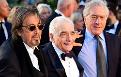 Al Pacino, Martin Scorsese and Robert de Niro attending the Closing Gala and International premiere of The Irishman, held as part of the BFI London Film Festival 2019, London.