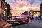 Gassers and Geezers car show in Guthrie during the 89 day weekend marking Oklahoma Statehood.