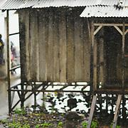 Rainy day at the fishing village of Santa Catarina.