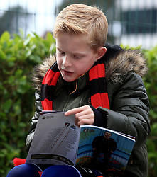 A young AFC Bournemouth fan ahead of the Premier League match at the Vitality Stadium, Bournemouth.