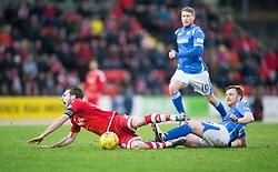 Aberdeen's Graeme Shinnie and St Johnstone's Liam Craig. <br /> St Johnstone 3 v 4Aberdeen, SPFL Ladbrokes Premiership played 6/2/2016 at McDiarmid Park, Perth.