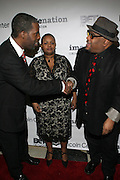 l to r: Greg Gates, Moikgansti Kgama and Stew at The ImageNation celebration for the 20th Anniversary of ' Do the Right Thing' held Lincoln Center Walter Reade Theater on February 26, 2009 in New York City. ..Founded in 1997 by Moikgantsi Kgama, who shares executive duties with her husband, Event Producer Gregory Gates, ImageNation distinguishes itself by screening works that highlight and empower people from the African Diaspora.