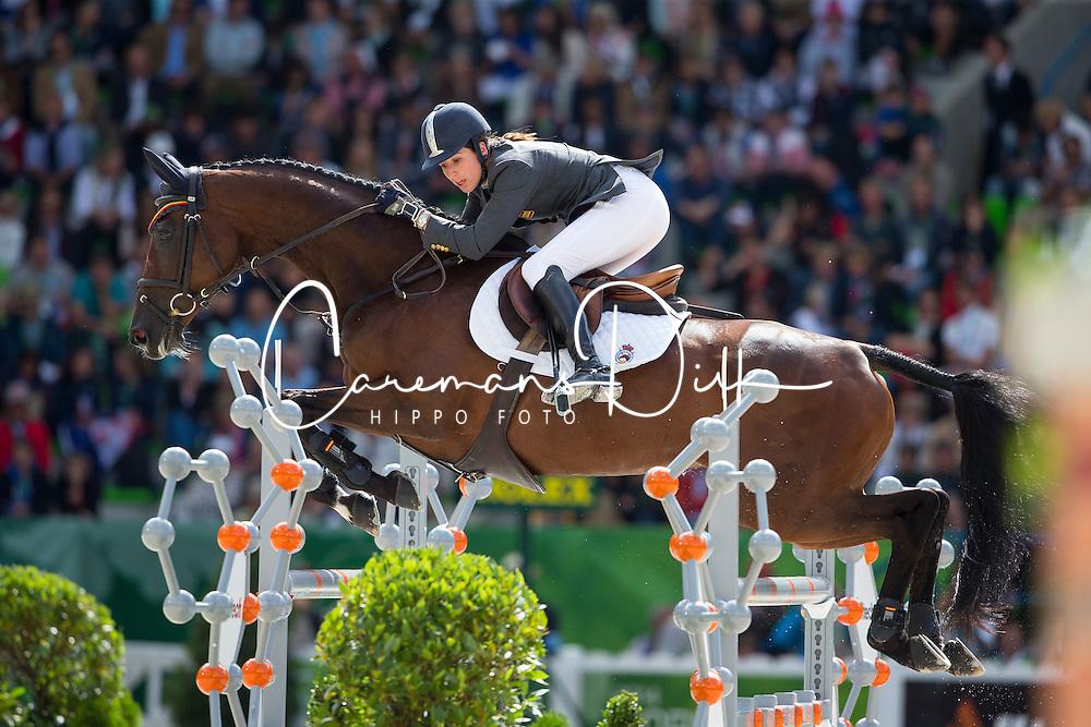 Cristina Pinedo Sendagorta, (ESP), Helena XII - Jumping Eventing - Alltech FEI World Equestrian Games™ 2014 - Normandy, France.<br /> © Hippo Foto Team - Leanjo De Koster<br /> 31-08-14