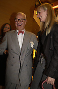 Manolo Blahnik and Camilla Morton. Christopher Bailey hosts a party to celebrate the launch of ' The Snippy World of New Yorker Fashion Artist Michael Roberts' Burberry, New Bond St.  London. 19  September 2005. ONE TIME USE ONLY - DO NOT ARCHIVE © Copyright Photograph by Dafydd Jones 66 Stockwell Park Rd. London SW9 0DA Tel 020 7733 0108 www.dafjones.com